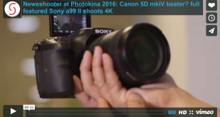 Newsshooter Article and Video About the a99 II – the camera the 5D mkIV should have been?